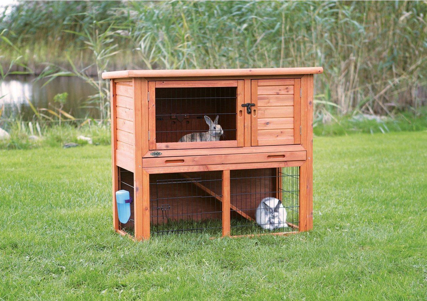trixie kaninchenstall natura mit freigehege 116x63x97 cm. Black Bedroom Furniture Sets. Home Design Ideas