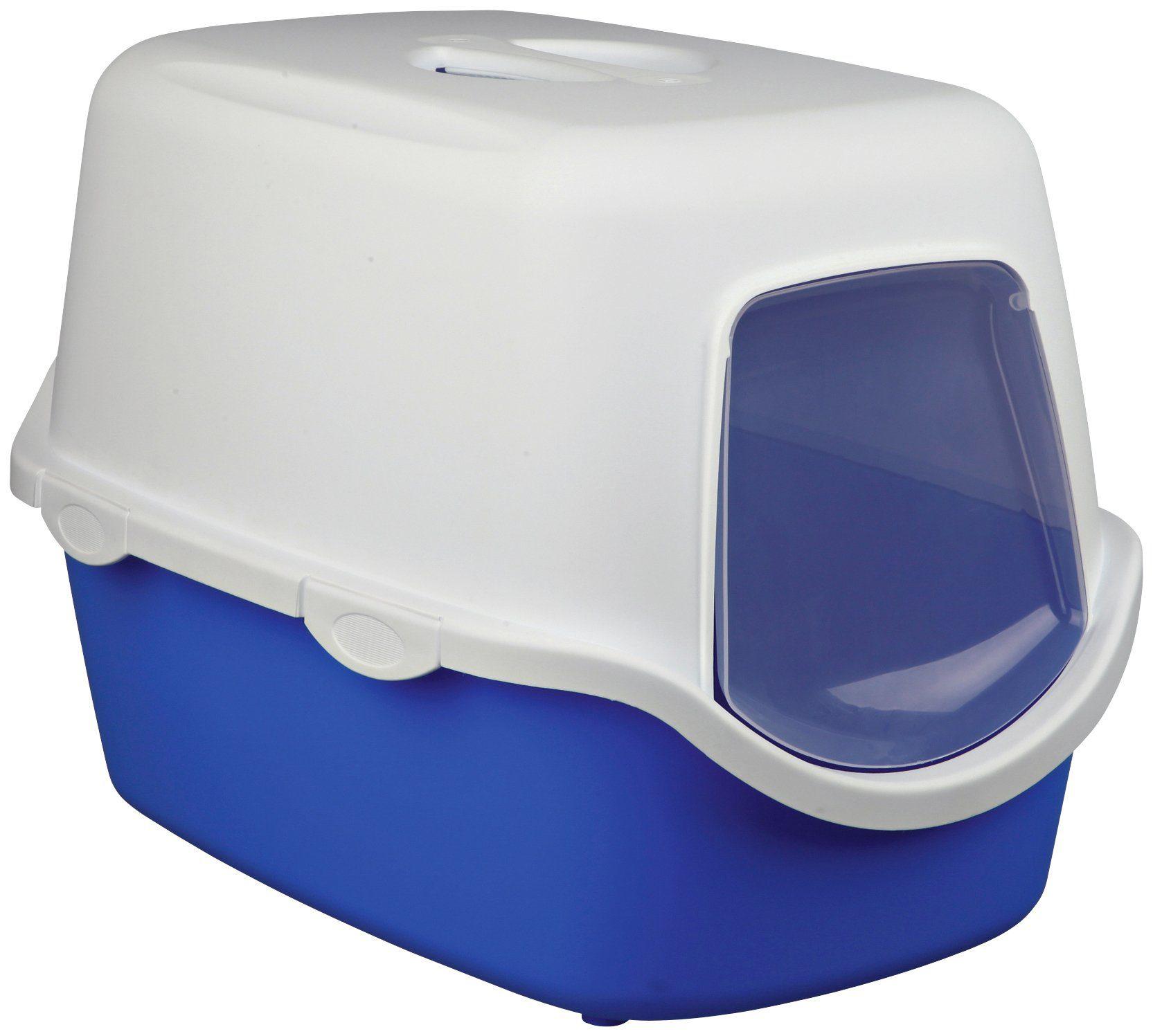 Katzentoilette »Vico«, B/T/H: 40/56/40 cm, blau/weiß