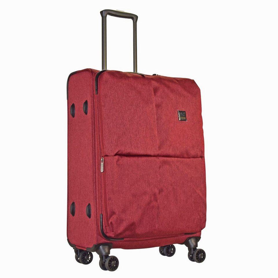 Titan Square 4-Rollen Trolley 78 cm in red