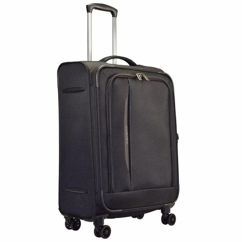 Travelite CrossLITE 4 - Rollen Trolley 67 cm in schwarz