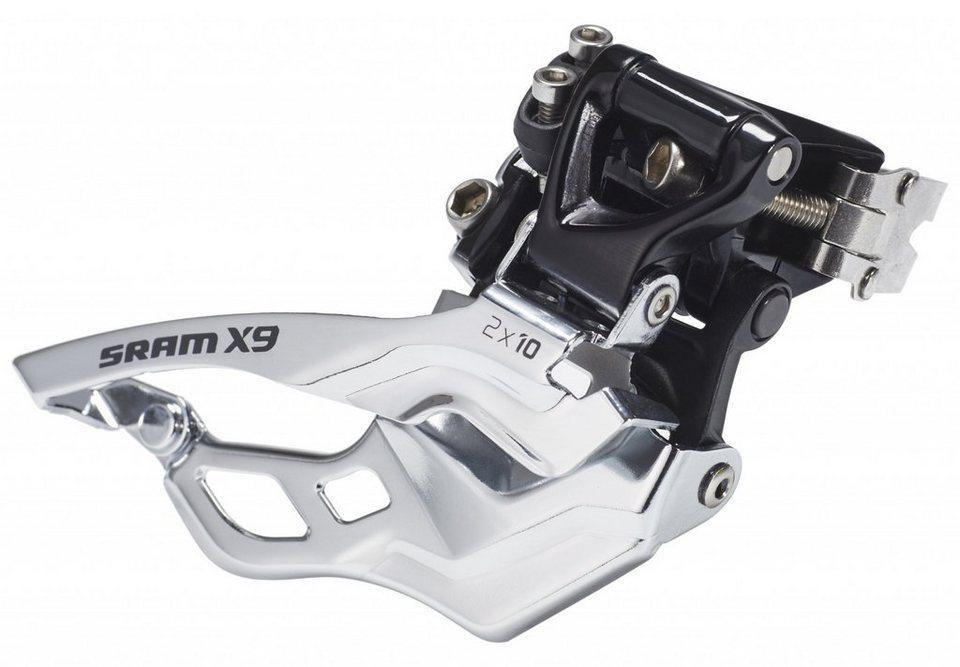 SRAM Schaltung »X9 Umwerfer High Clamp Bottom Pull 2x10 fach«
