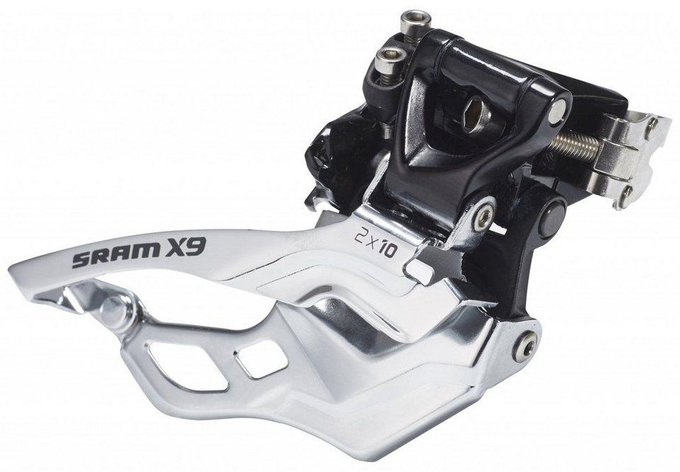 SRAM Schaltung »X9 Umwerfer High Clamp Top Pull 2x10 fach«