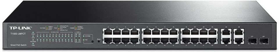 TP-Link Switch »T1500-28PCT 24-Port 10/100 L2 Managed PoE Switch« in Schwarz