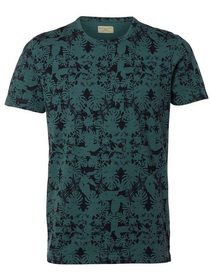 Selected Rundausschnitt T-Shirt in Sea Pine