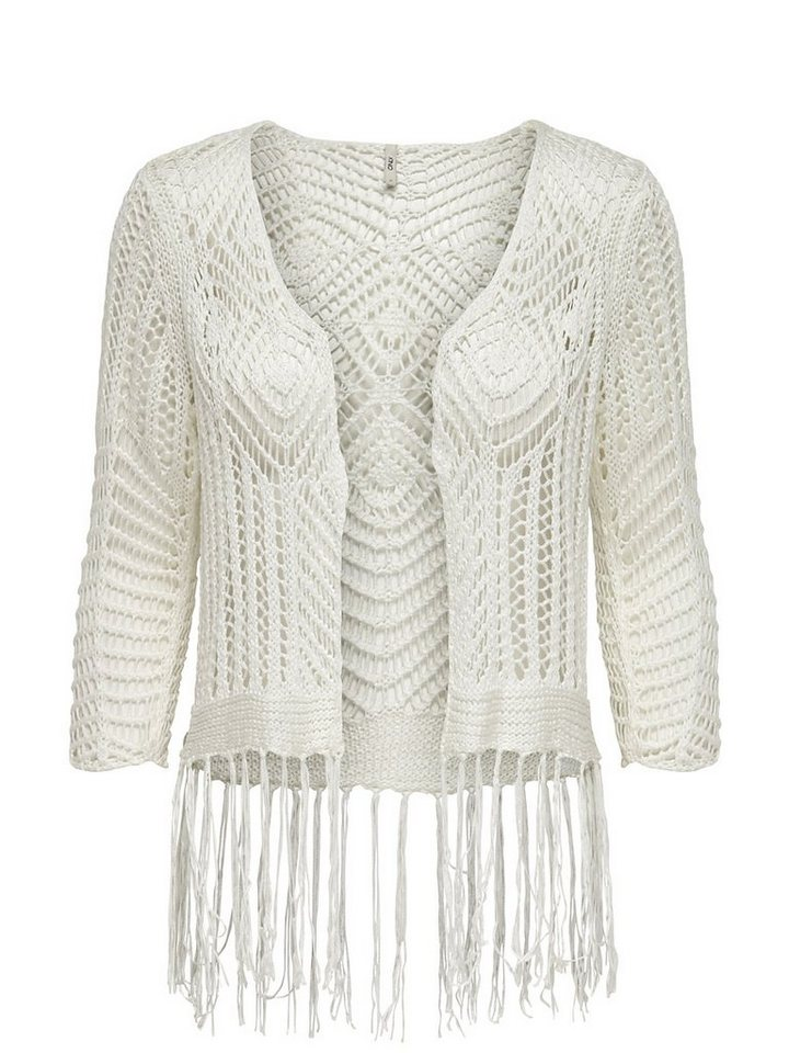 Only Detaillierter Strick-Cardigan in Cloud Dancer