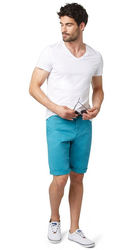TOM TAILOR Shorts »sommerliche Chino-Bermuda« in Teal Blue