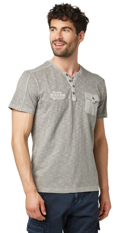 TOM TAILOR T-Shirt »Serafino-Shirt mit Artwork« in titanium grey