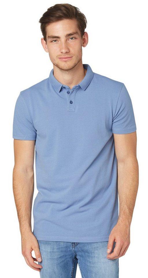TOM TAILOR DENIM Poloshirt »Polo-Shirt aus Piqué« in colony fog blue