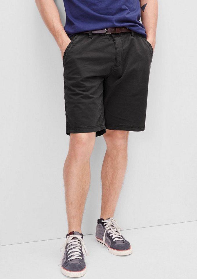 s.Oliver RED LABEL Plek Loose: Chino-Shorts mit Gürtel in dark grey