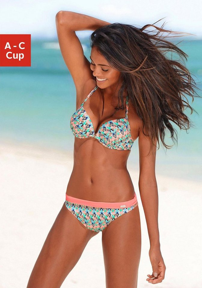 Push-up-Bikini, Venice Beach in mint-hummer