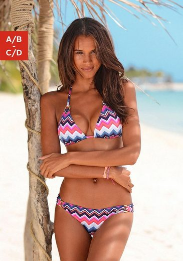 LASCANA Triangel-Bikini-Top »Pico«, mit goldenen Zierringen