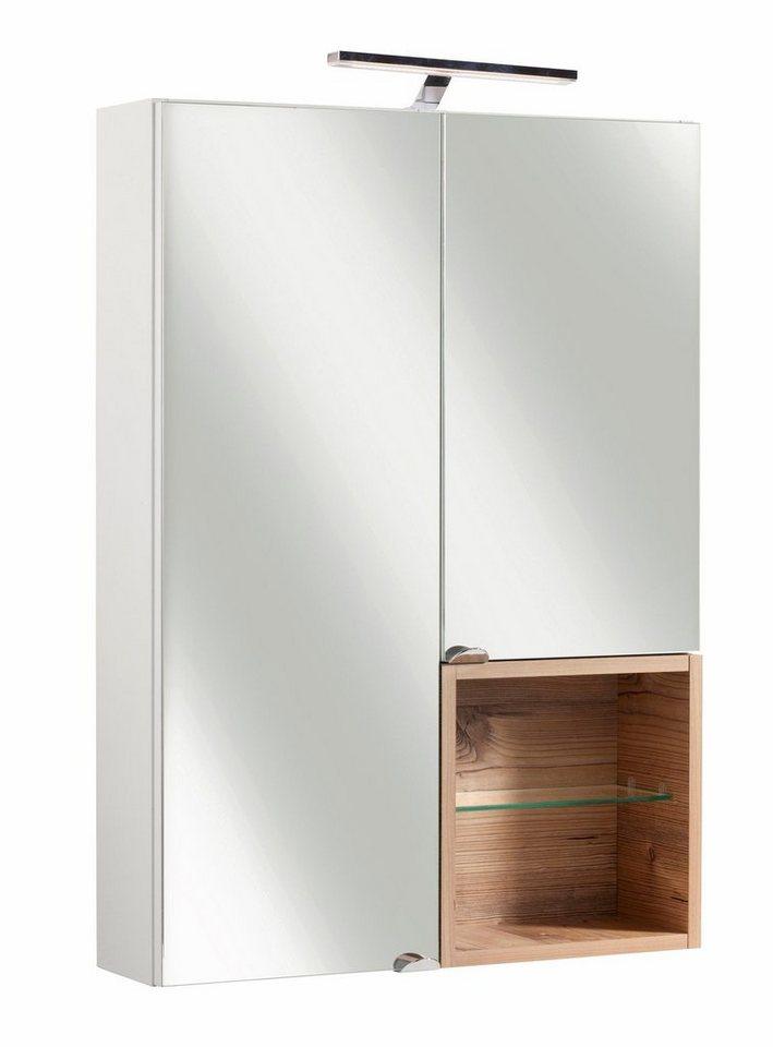 Schildmeyer Spiegelschrank »Bozen« in weiß/silberfichtefb.