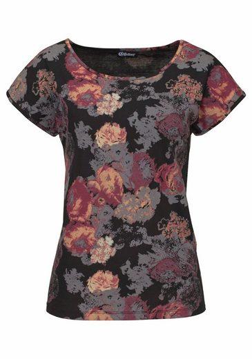 Boysen's T-Shirt, mit Rosen-Druck