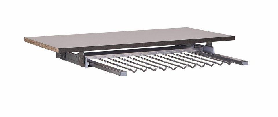 nolte® Möbel Hosenhalter für den Kleiderschrank »Marcato« in alu matt
