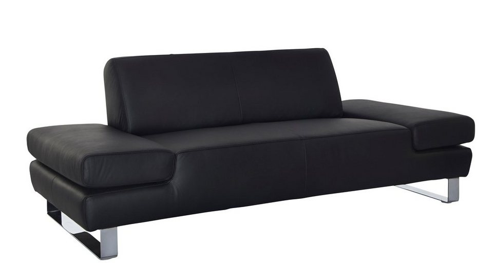 w schillig 2 sitzer ledersofa taboo inklusive. Black Bedroom Furniture Sets. Home Design Ideas