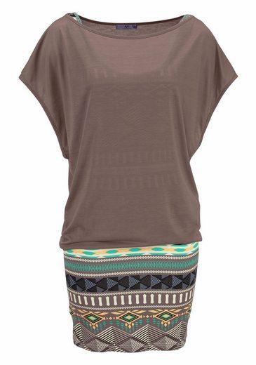 AJC 2-in-1-Kleid (Set, 2 tlg), mit Ikat Muster aus Jersey