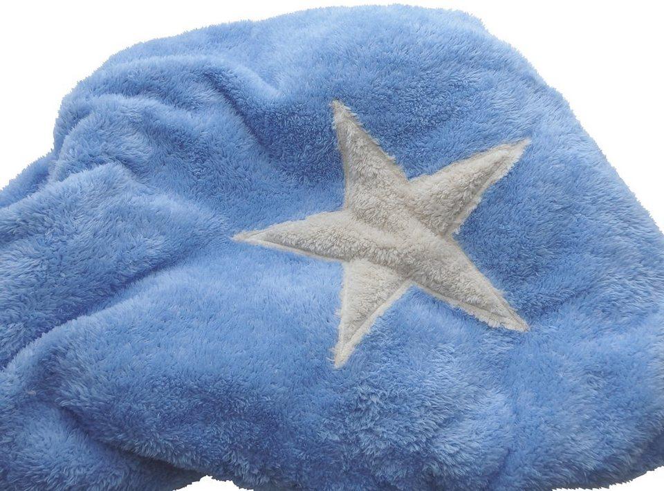 Hundedecke und Katzendecke »Pooch«, LxB: 67x87 cm, Hellblau-creme in blau