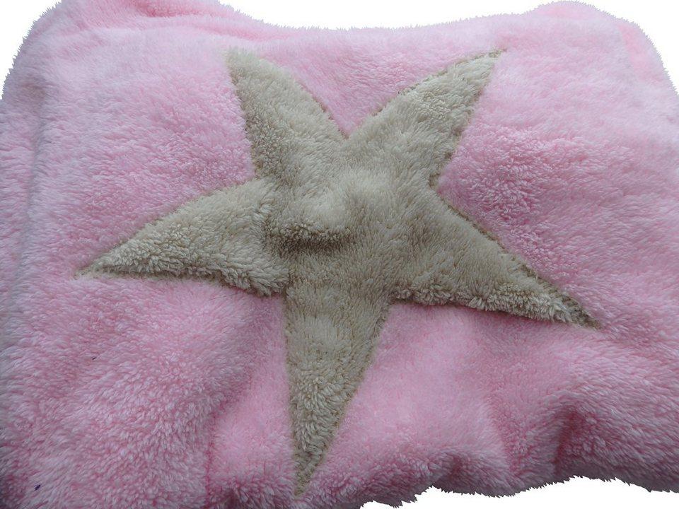 Hundedecke und Katzendecke »Pooch«, LxB: 85x110 cm, Rosa-creme in rosa