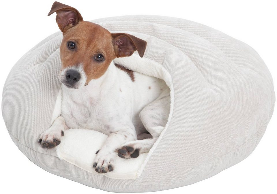Hundehöhle und Katzenhöhle »Bubble«, ØxH: 58x25 cm, Creme in cremefarben