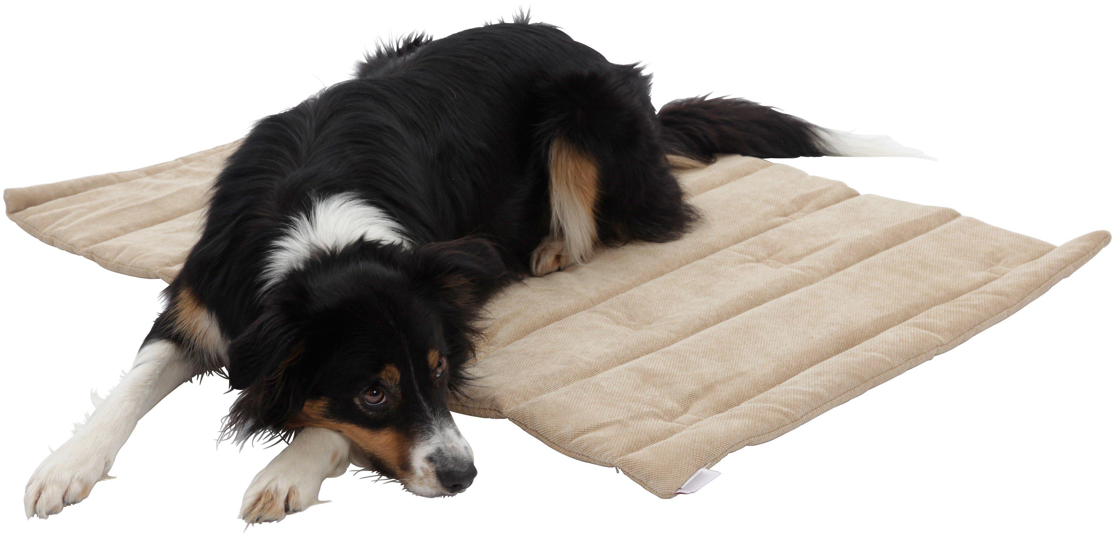 Hundedecke und Katzendecke »Mat Madison«, Reisedecke mit Tragegriff, LxB: 65x95 cm,sandfarben
