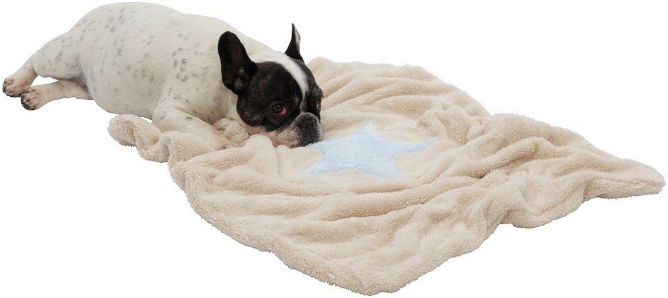 Hundedecke und Katzendecke »Pooch«, LxB: 67x87 cm, Creme-hellblau in natur