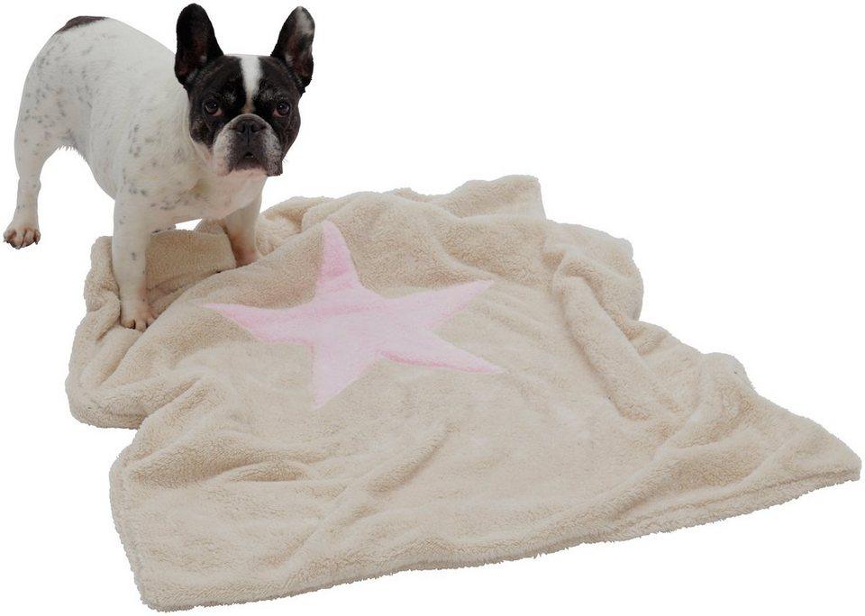 Hundedecke und Katzendecke »Pooch«, LxB: 85x110 cm, Creme-rosa in natur