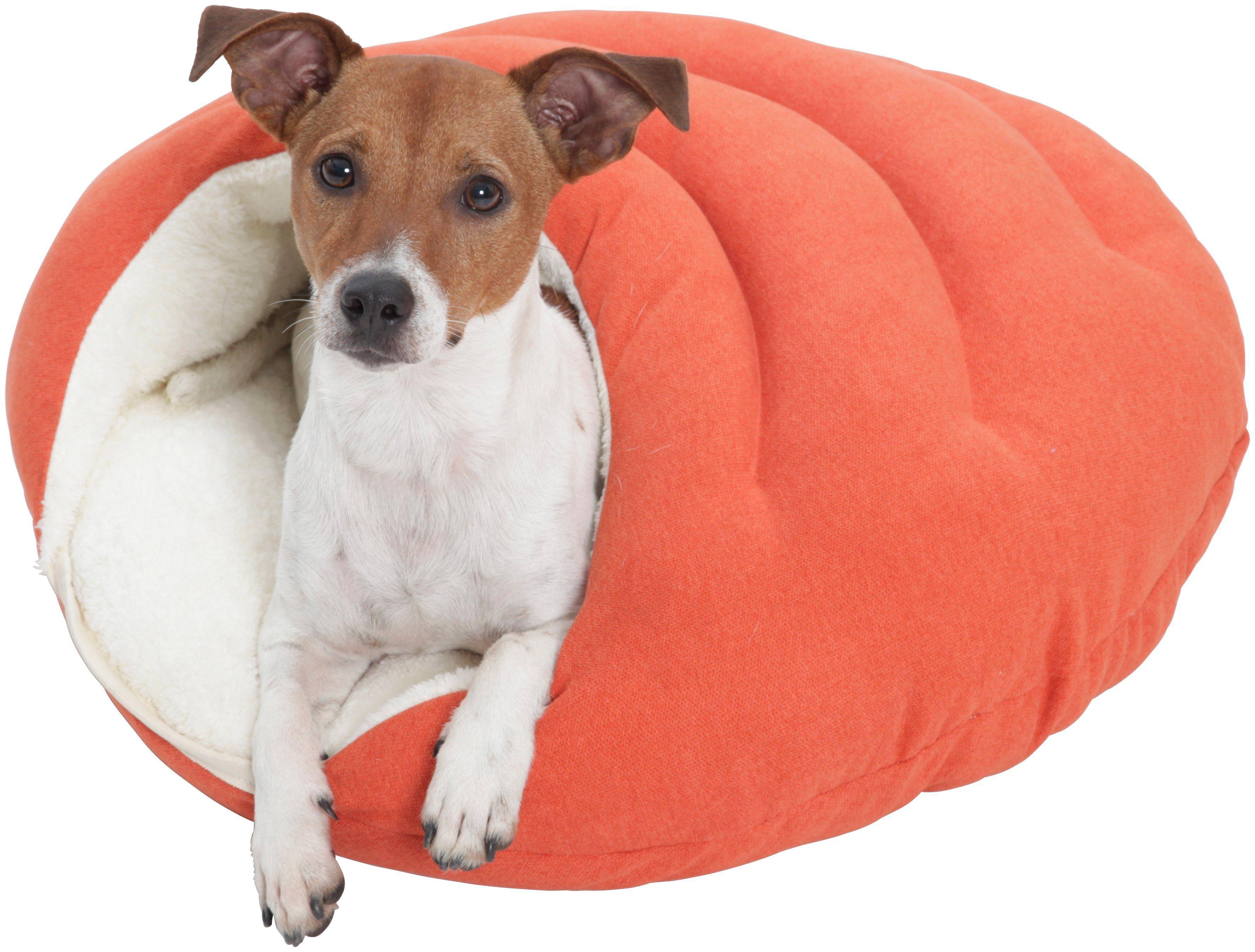 Hundehöhle und Katzenhöhle »Bubble«, B/T/H: 58/58/25 cm, Orange
