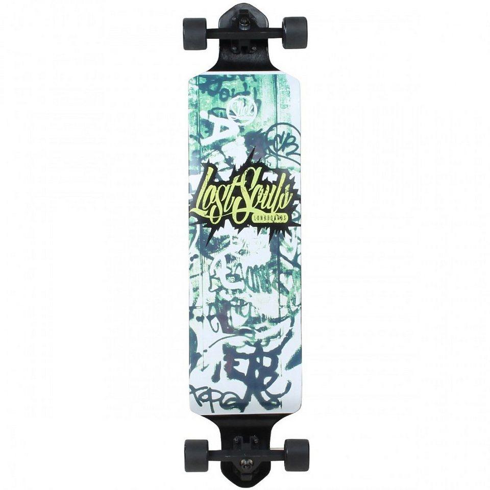 Slick Longboard, »Drop Down Graffiti« in schwarz