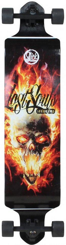 Slick Longboard, »Drop Down Skull« in schwarz
