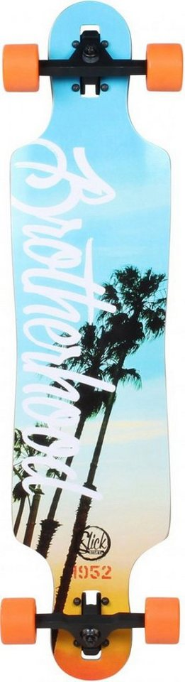 Slick Longboard, »Sunset Beach« in grau-orange