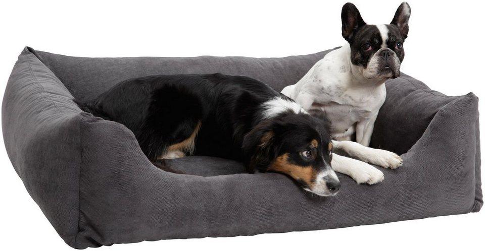 Hundebett und Katzenbett »Madison«, B/T/H: 90/70/30 cm, Anthrazit in anthrazit