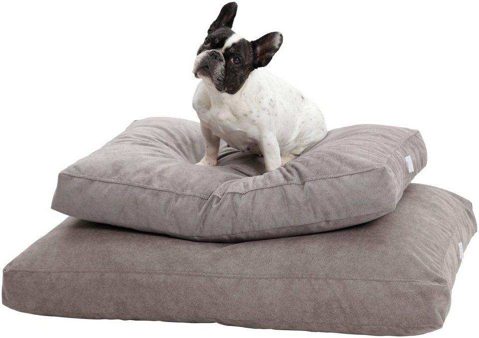 Hundekissen und Katzenkissen »Madison«, B/T/H: 80/60/10 cm, Grau in grau