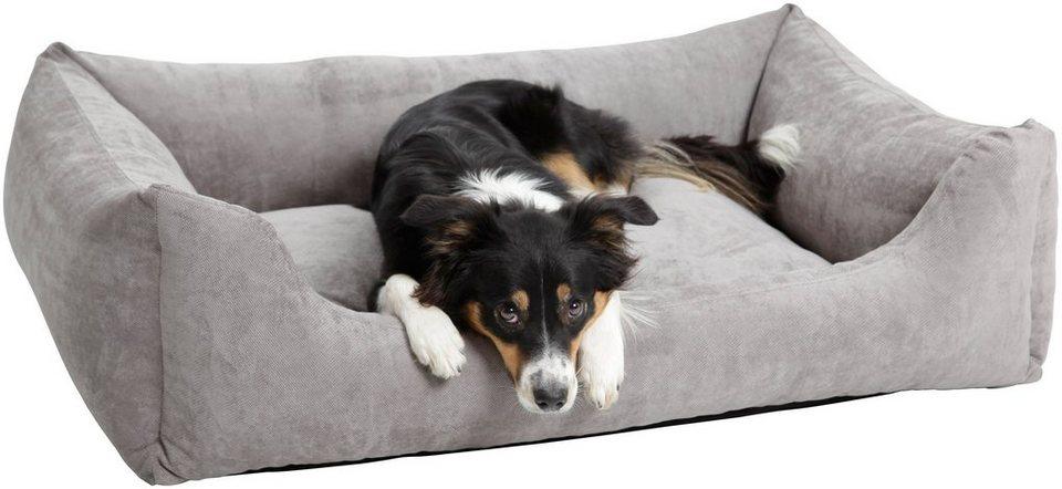 Hundebett und Katzenbett »Madison«, B/T/H: 100/80/30 cm, Grau in grau