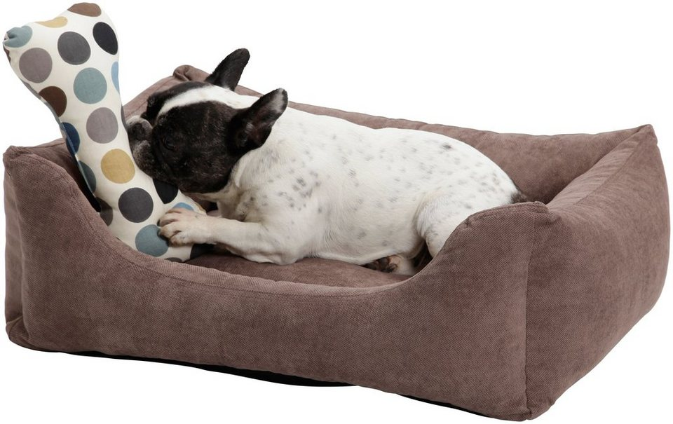 Hundebett und Katzenbett »Madison«, B/T/H: 100/80/30 cm, Braun in braun