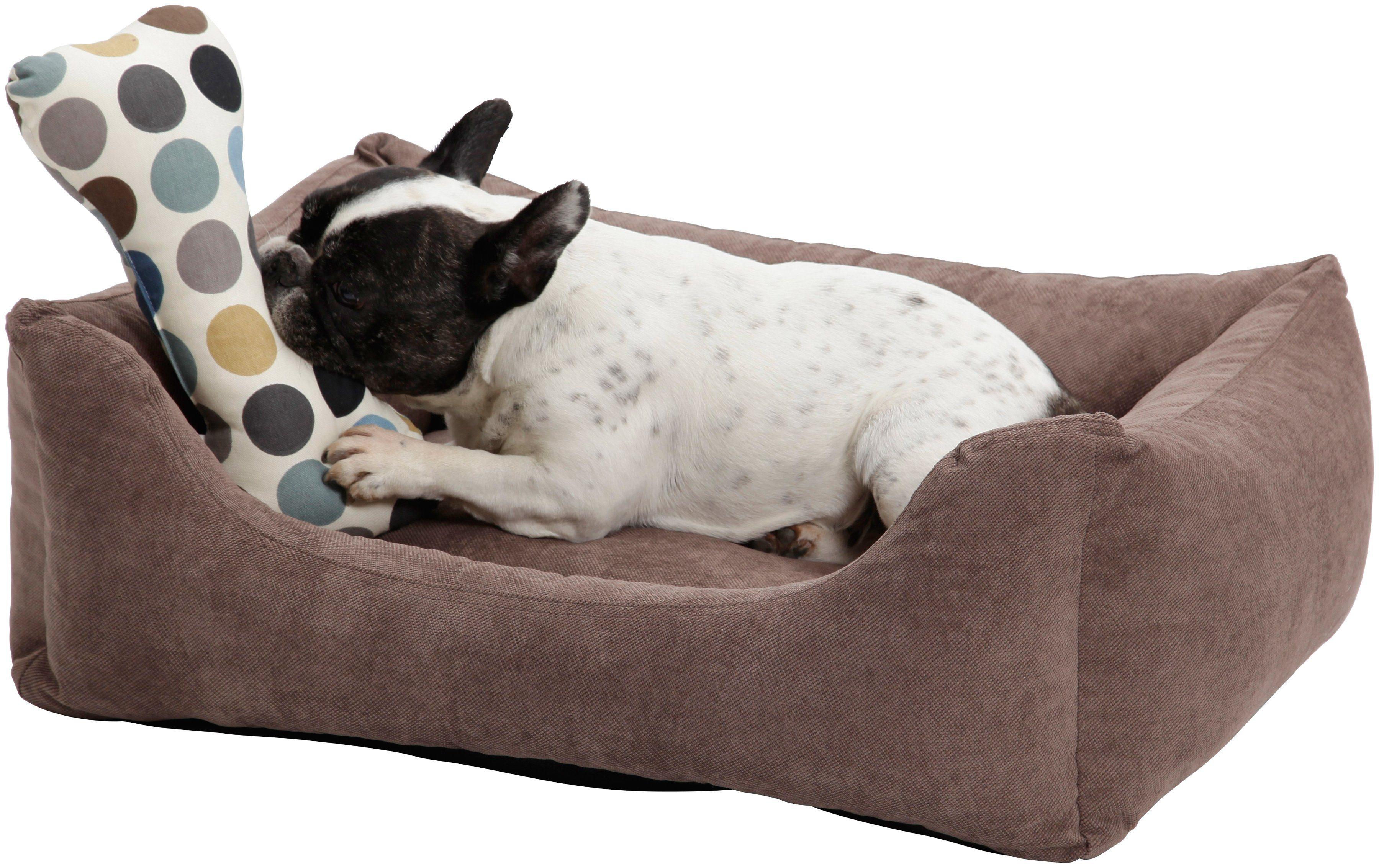 Hundebett und Katzenbett »Madison«, B/T/H: 100/80/30 cm, Braun
