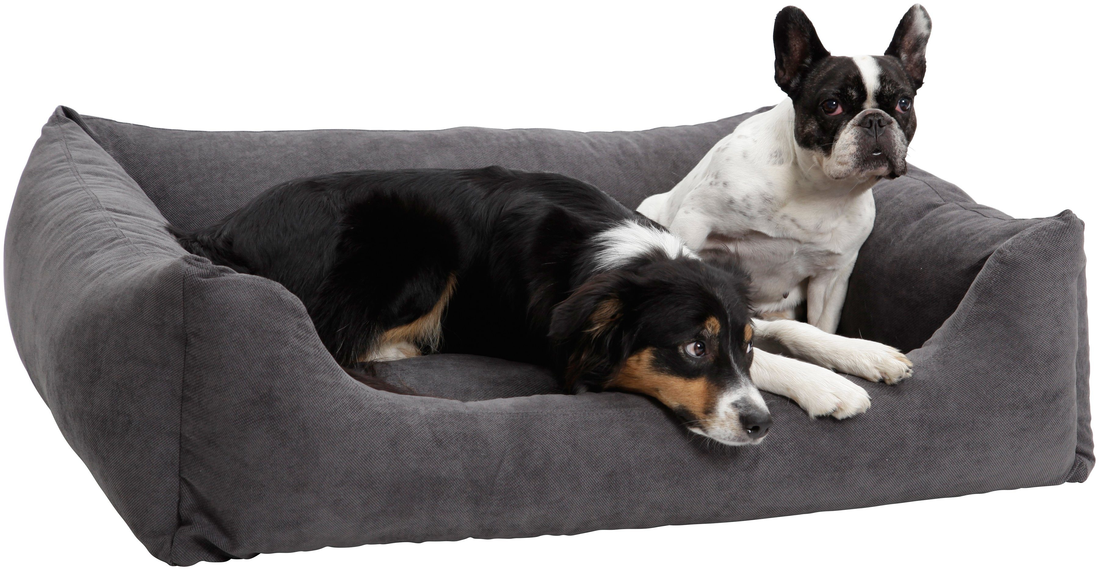 Hundebett und Katzenbett »Madison«, B/T/H: 80/60/28 cm, Anthrazit