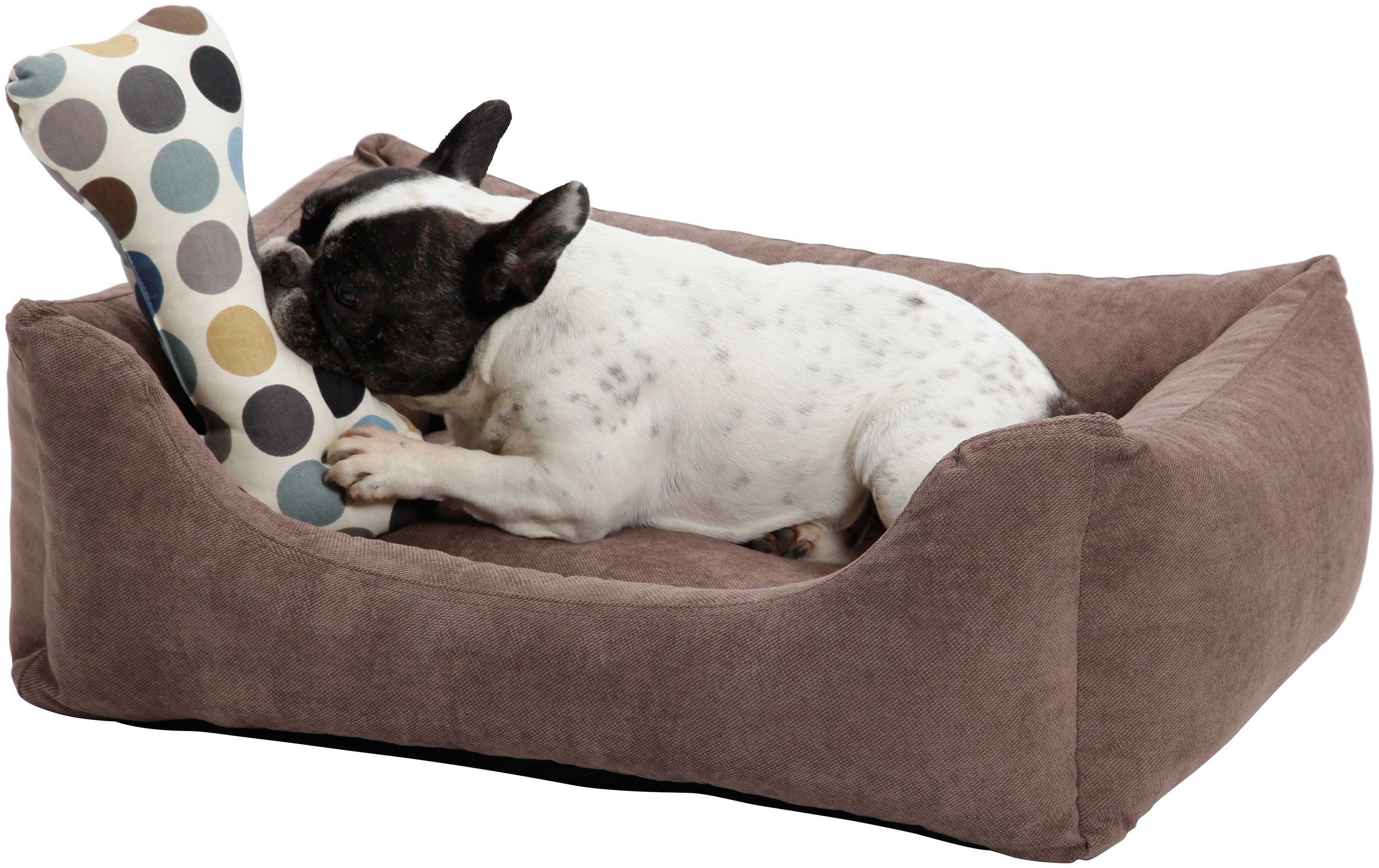 Dogs In The City Hundebett und Katzenbett »Madison«, B/T/H: 80/60/28 cm, Braun