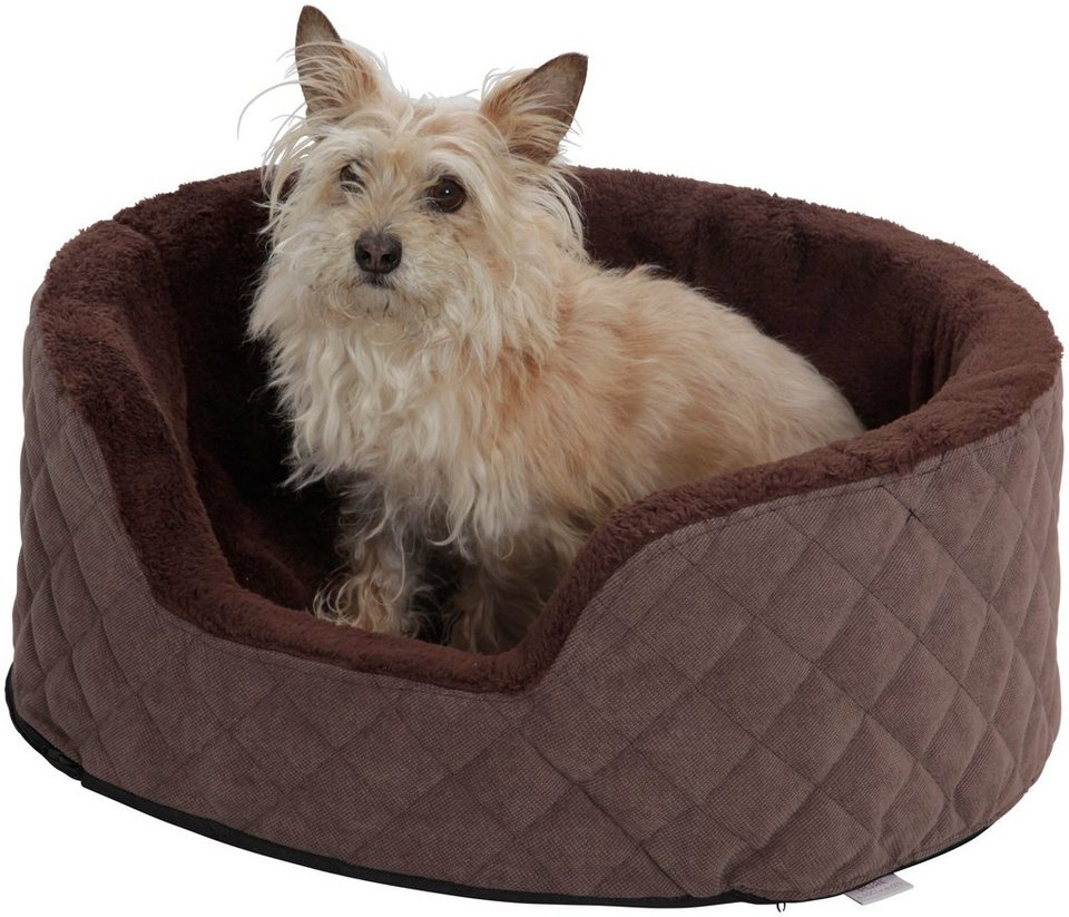 Hundekorb »Madison«, B/T/H: 50/40/20 cm, Braun in braun