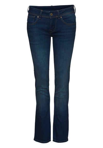 Pepe Jeans Slim-fit-Jeans »SATURN« im basic Straight-Fit in Mid-Waist und 5-Pocket-Stil