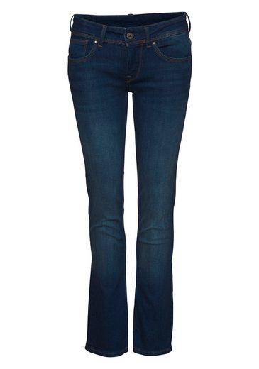 Pepe Jeans Straight-Jeans »SATURN« mit hinterer Doppeltasche und Stretch-Anteil