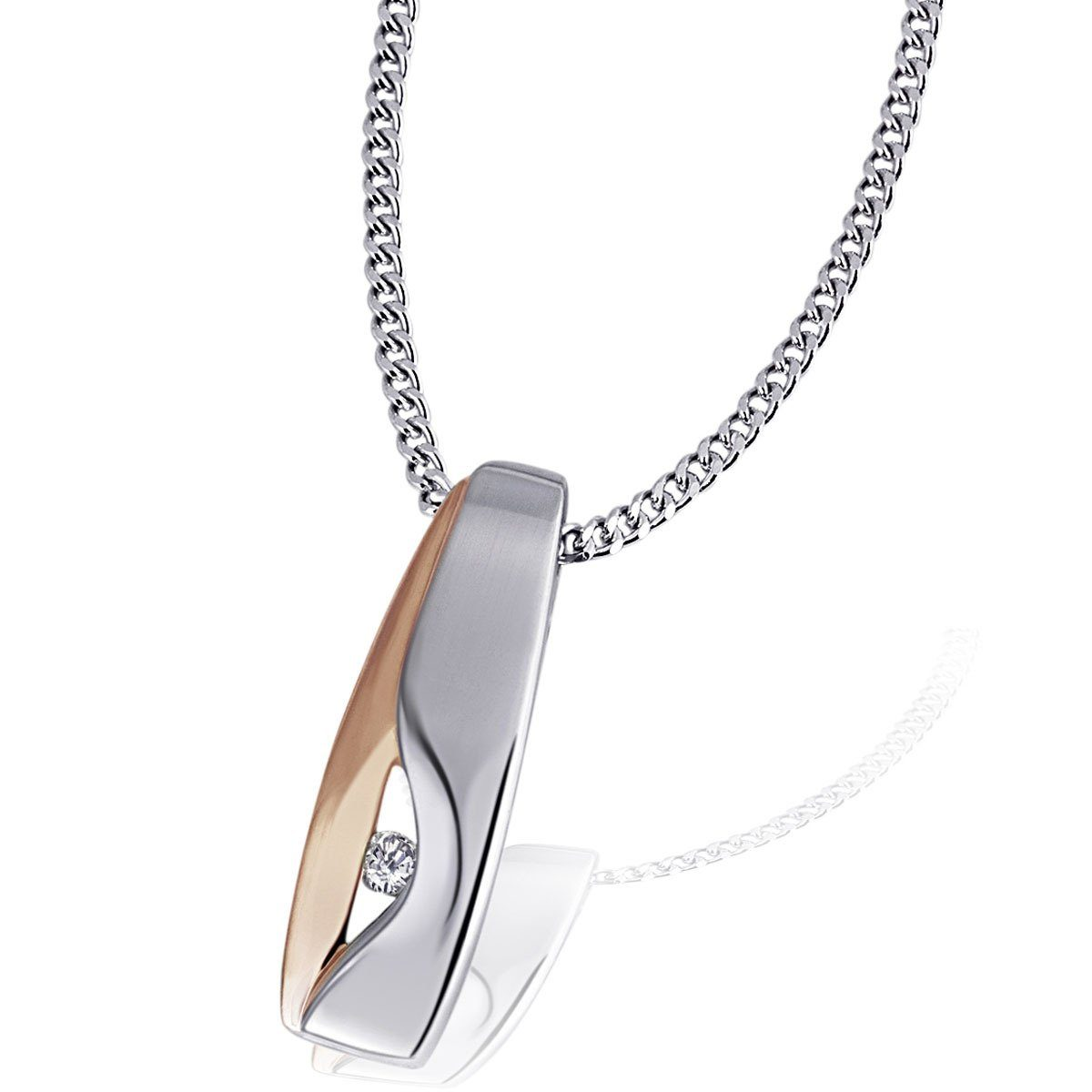 goldmaid Collier 925 Sterlingsilber 1 Zirkonia