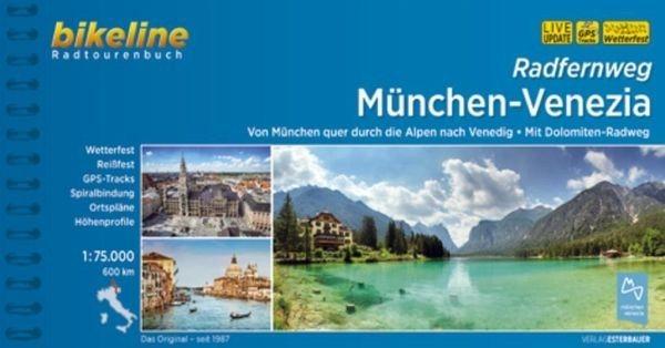 Broschiertes Buch »Bikeline Radtourenbuch Radfernweg München-Venezia«