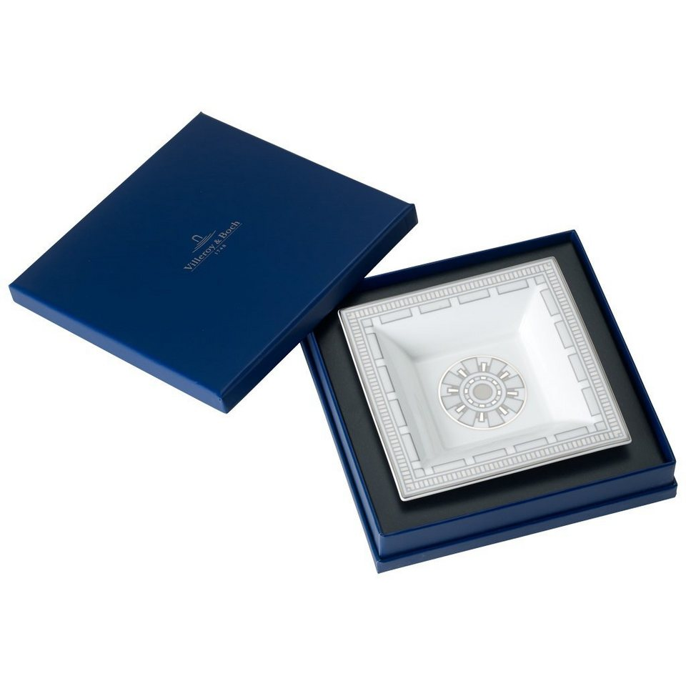 VILLEROY & BOCH Schale Quadrat 14x14cm »La Classica Contura Gifts« in Dekoriert