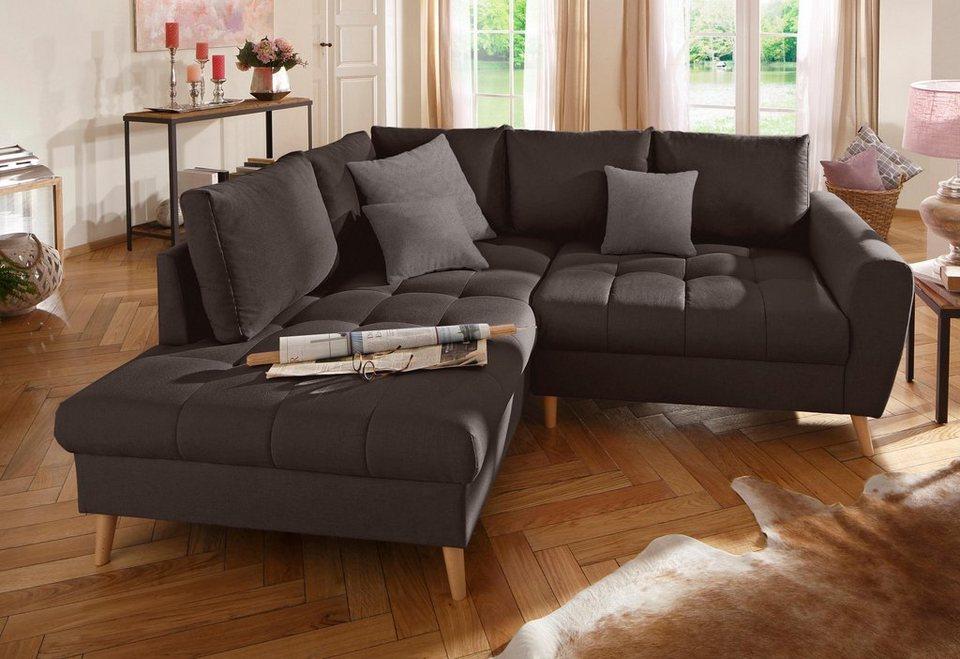 Home affaire polsterecke fan online kaufen otto for Sofa hellblau