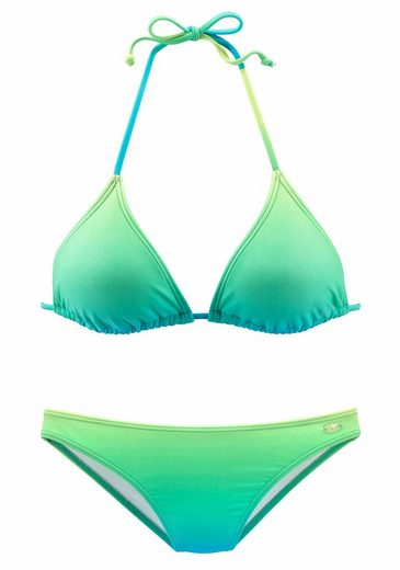 KangaROOS Triangel-Bikini in leuchtender Neon-Optik