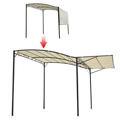 Outsunny Pavillon »Pavillon mit klappbarem Seitendach«