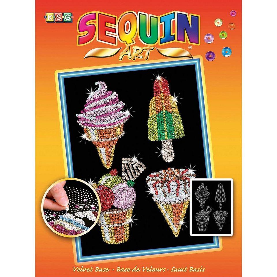 MAMMUT Spiel und Geschenk Sequin Art Orange - Eiscreme