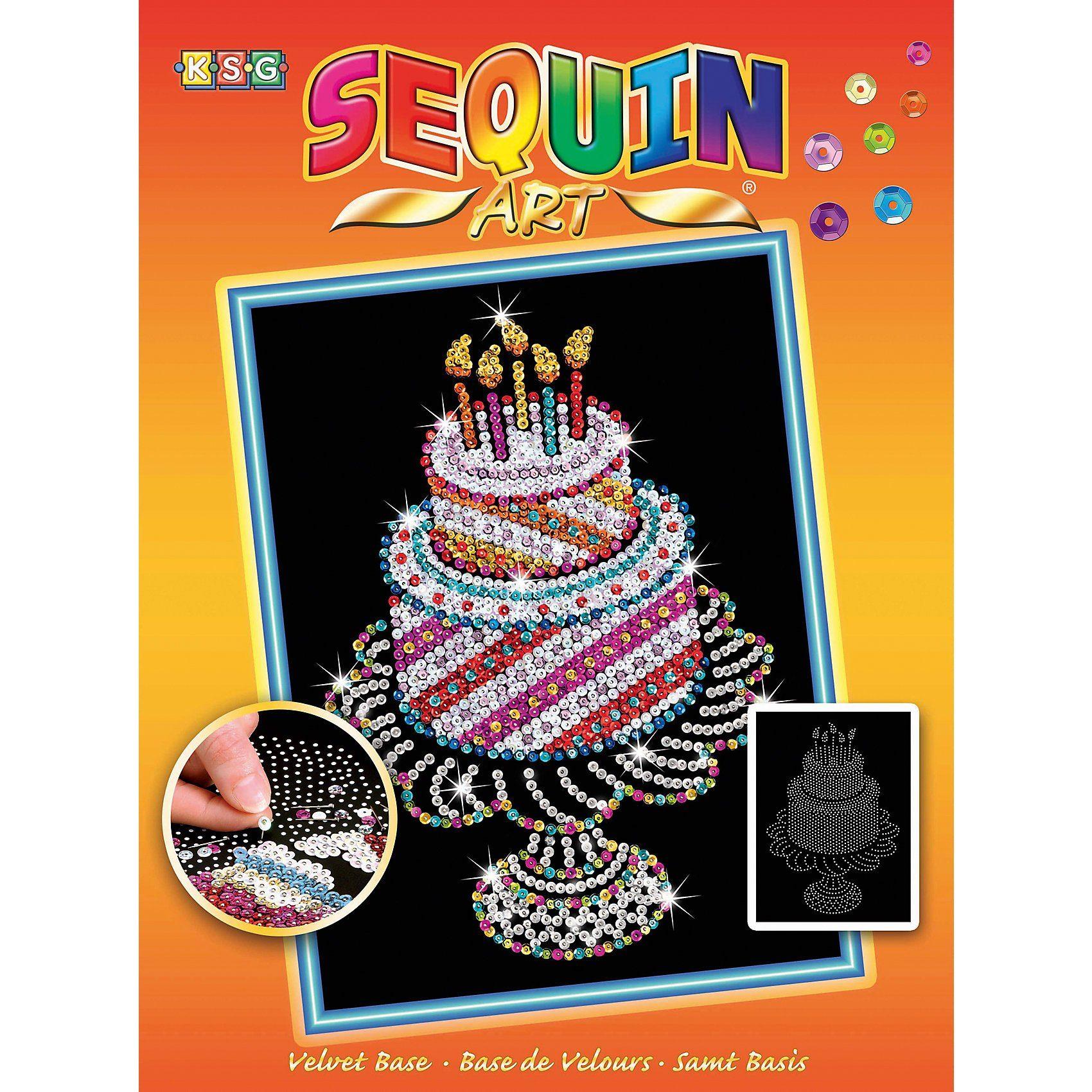 MAMMUT Spiel und Geschenk Sequin Art Orange - Geburtstagstorte