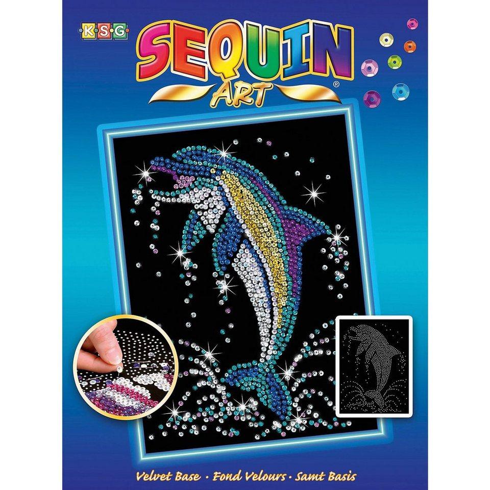 MAMMUT Spiel und Geschenk Sequin Art Blue - Delfin