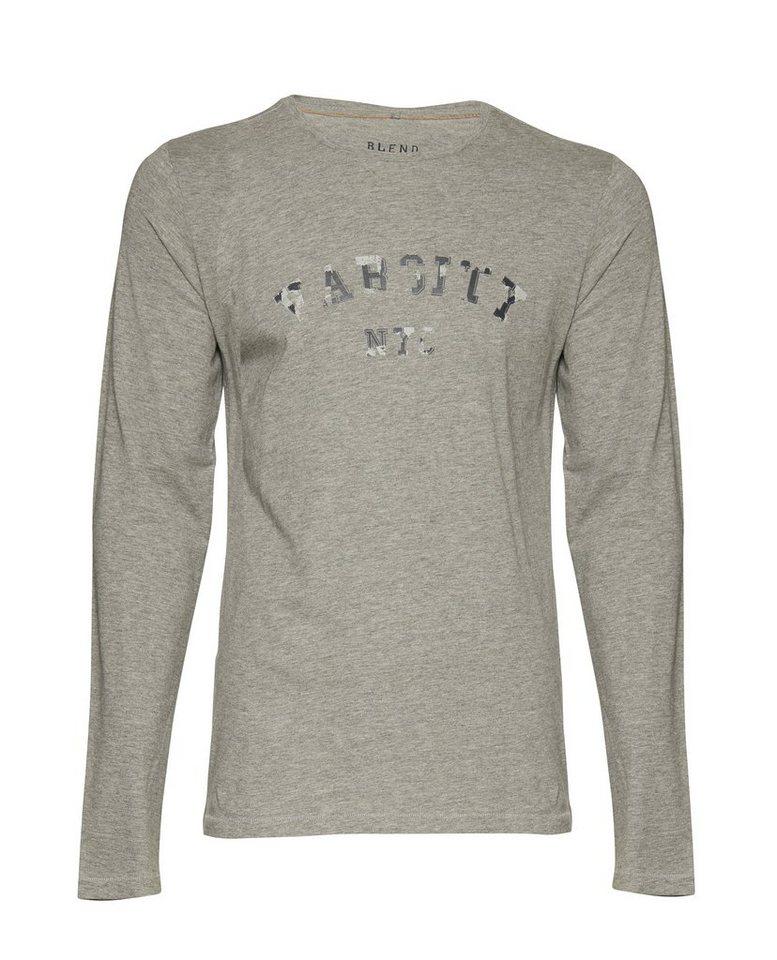 Blend Slim fit, schmale Form, T-Shirt in Grau